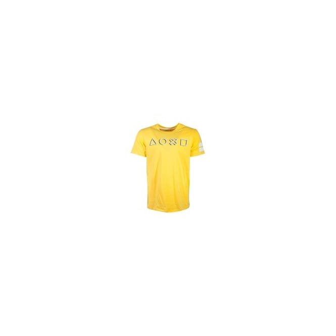 Playstation Icons Long Line Yellow T-Shirt