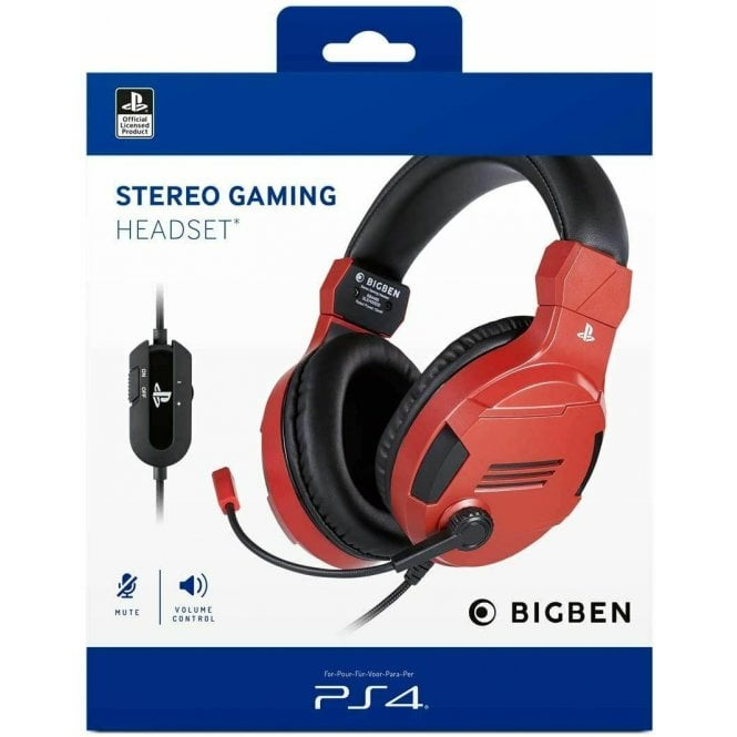 Playstation Nacon Official Red Headset