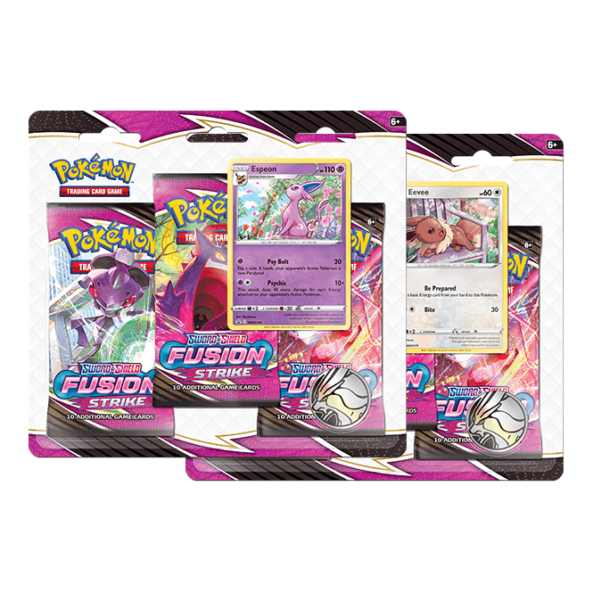 Pokémon TCG Sword & Shield 8 Fusion Strike 3-Pack Booster