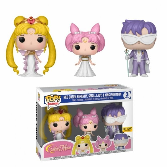 Queen Serenity, Small Lady, King Endymion Pop! Vinyl 3-Pack
