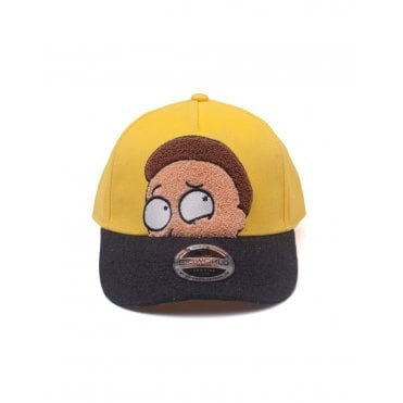 Rick and Morty Morty Chenille Flat Embroidery Curved Bill Cap 033af7316c0a