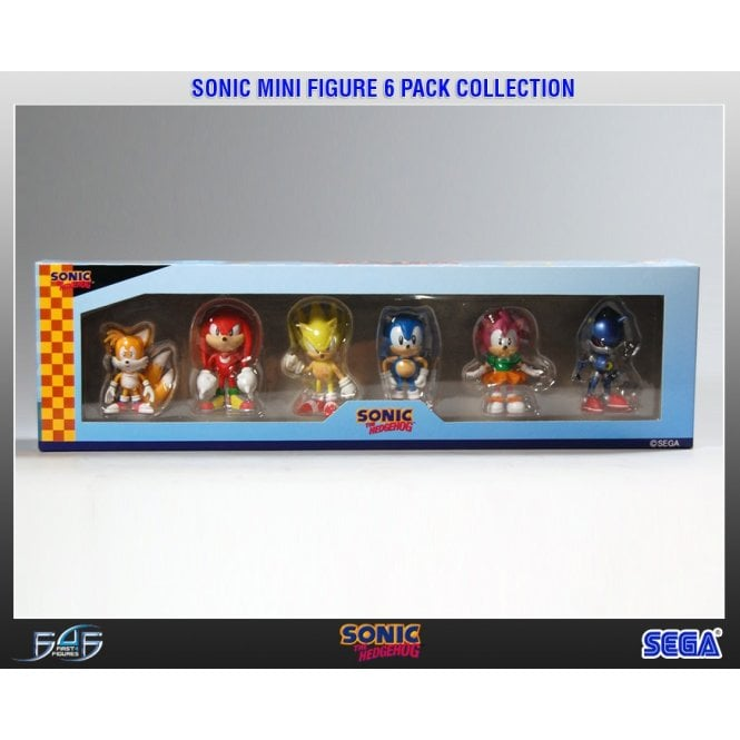 Sonic The Hedgehog 6 Pack Mini Figure Collection
