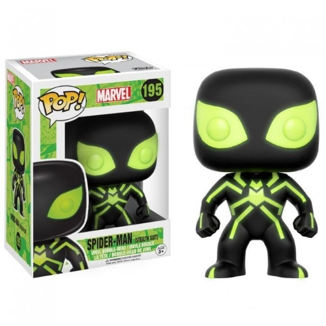 Stealth Spider-Man GITD Exclusive POP! Vinyl