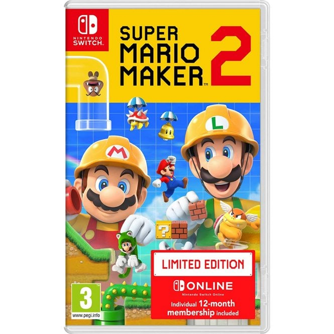 Super Mario Maker 2 + 12 Month Nintendo Switch Online Subscription Switch