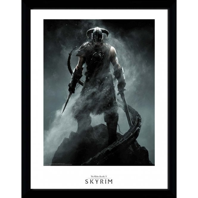 The Elder Scrolls Skyrim Dragonborn Framed Poster