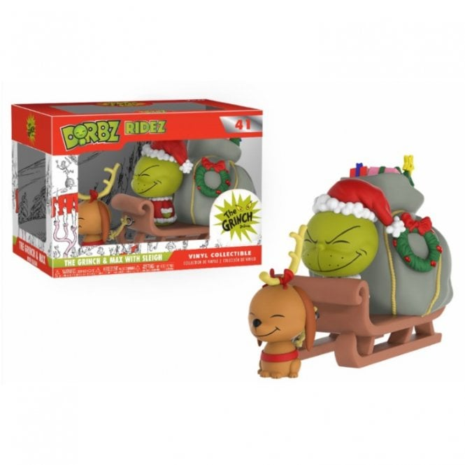 The Grinch & Max on sled Dorbz Ridez