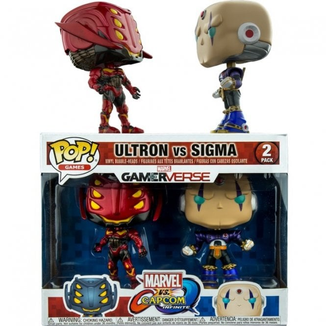 Ultron Red and Black vs Sigma Purple Pop! Vinyl