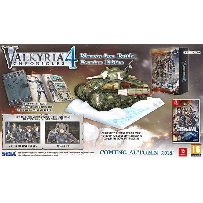 Valkyria Chronicles 4 Memoires from Battle Premium Edition Switch
