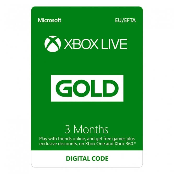 Xbox LIVE Prepaid 3 Month Gold Membership Card