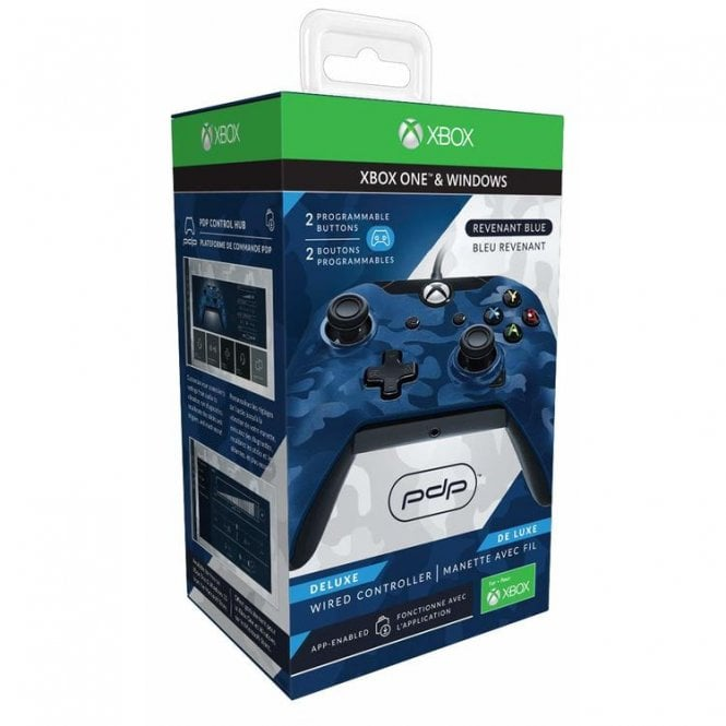 Xbox One Deluxe Blue Wired Controller